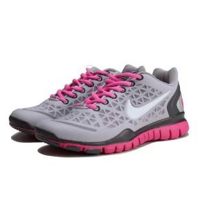 new style 98f18 13edf Nike Free TR Fit Chaussures de Course Pied Pour Homme Gris Rose Foncé Noir