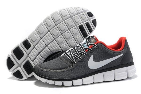 half off c1333 61e1e Nike Free 5.0 V4 Chaussures de Course Pied pour Homme Gris Foncé Blanc