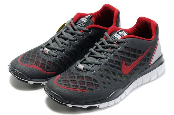 outlet store 1b97f 62f0d Nike Free TR Fit Chaussures de Course Pied Pour Homme Noir Rouge Foncé Blanc