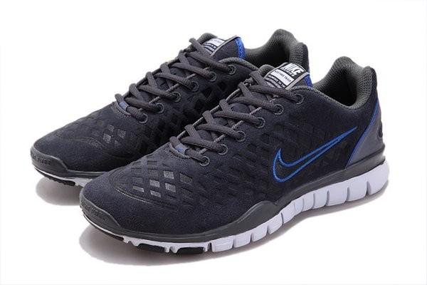 meet 94bb1 1b873 Nike Free TR Fit Chaussures de Course Pied Pour Homme Bleu Foncé Bleu Blanc