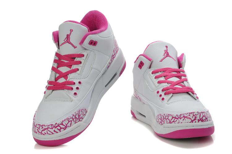 zapatos jordan de mujer rosado